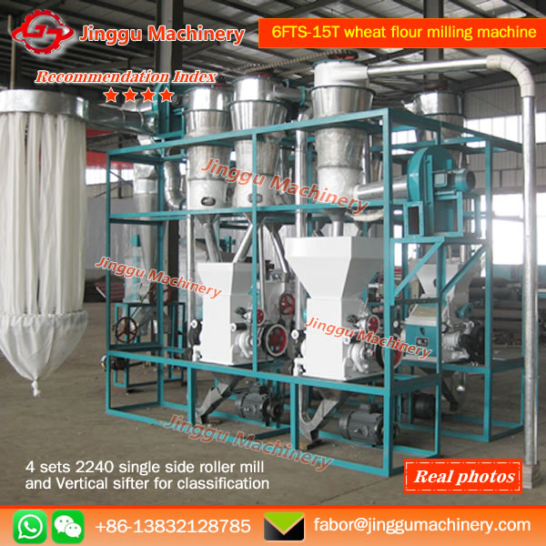 6FTS-15T wheat flour milling machine | plane structure wheat flour milling machine