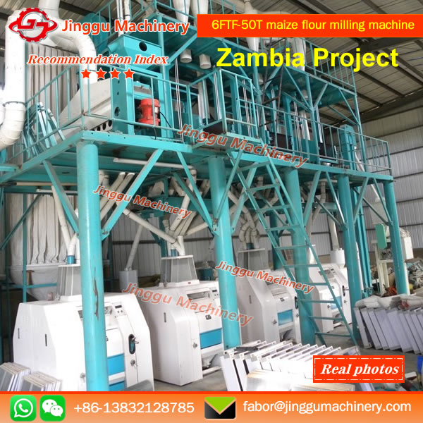 Jinggu Machinery install 50T maize flour mi