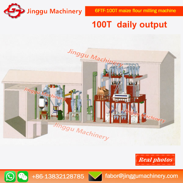 6FTF-100T maize flour milling machine/plant |High quality maize milling machine
