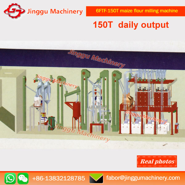 6FTF-150T maize flour milling machine