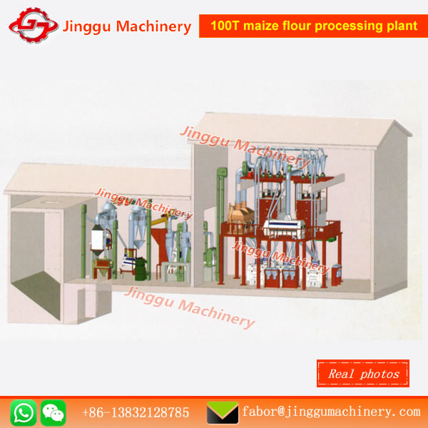 100T corn milling plant corn flour processing plant corn flour milling plantcorn milling machinecorn flour making machinery corn milling plant in China