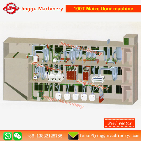 100T maize milling machinemaize flour milling machinesmaize milling machinesmaize flour milling machine for sale