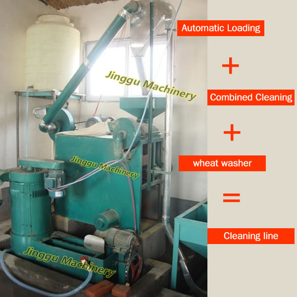 10T wheat flour milling machine-cleaning system