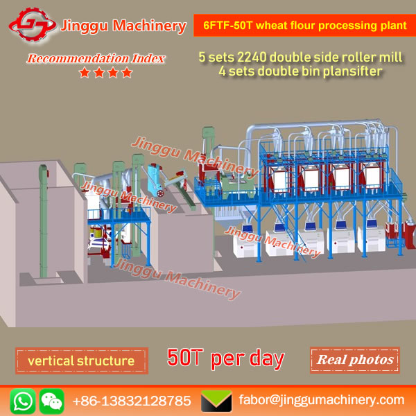 6FTF-50T wheat flour processing plant