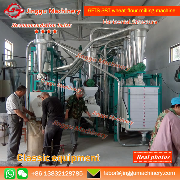 Botou Customer purchase 40T wheat milling machine