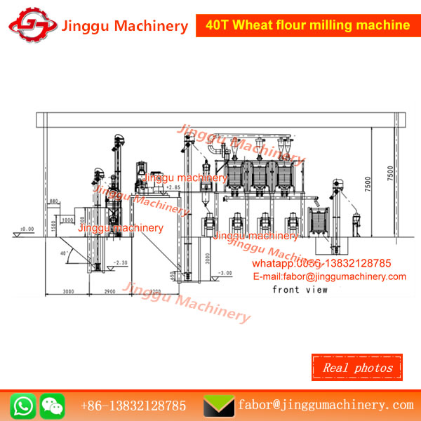 40T Wheat flour milling machine