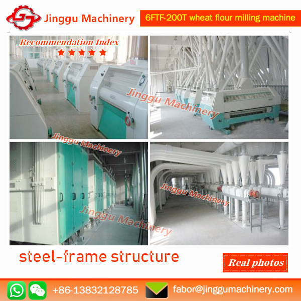 200T wheat flour milling machine | complet set of wheat flour production line